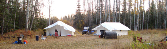 Tent Camp at Misty River Outfitters in Alberta
